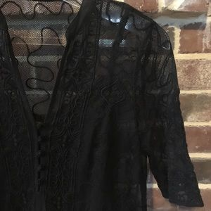 Lucky Brand black lace dress